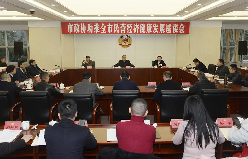 毕友出席成都市政协民营经济发展座谈会,为创业者树立信心