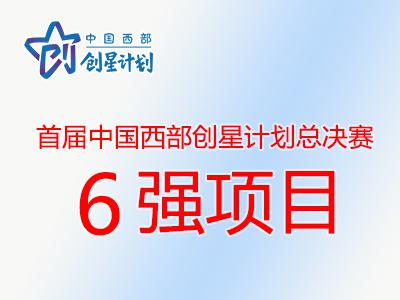 首届中国西部创星计划总决赛6强项目名单出炉
