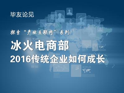 """探索""""产业互联网""""系列——冰火电商部,2016传统企业如何成长"""